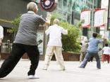 太極拳をする人々(北京)