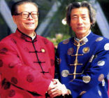 小泉元首相のチャイナ服と江沢民