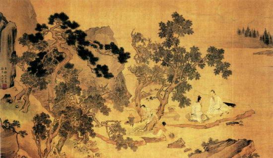 松溪論畫圖 仇英(吉林省博物館藏)